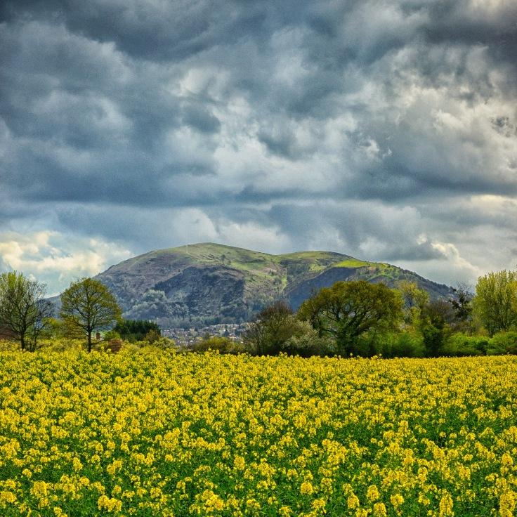 Malvern Hills seen from Leigh Sinton
