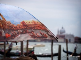 Venice tour guide's umbrella 2
