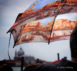 Venice tour guide's umbrella 1