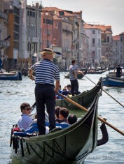 Heavy traffic on the Grand Canal