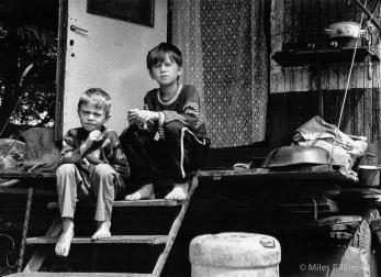 Circus children, Brasov, Romania, 1992