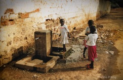 Drinking water, Georgetown, The Gambia, 2000