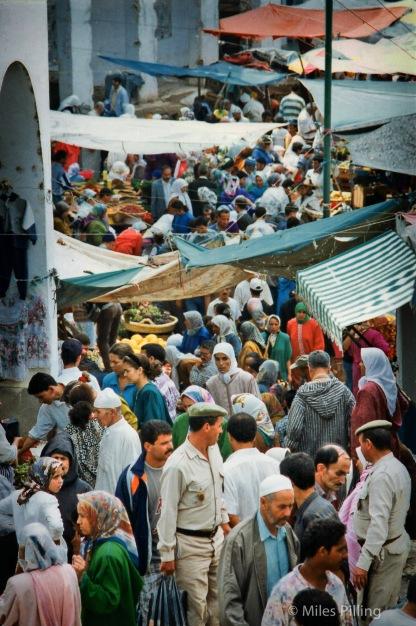 Chefchaouen market street, Morocco, 1997