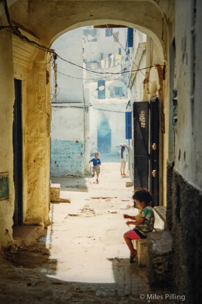 Children in Chefchaouen, Morocco, 1997