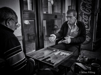 Greek Cypriots playing Backgammon